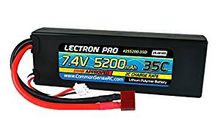 Load image into Gallery viewer, Lectron Pr  7.4V 5200mAh 35C Lipo Battery with Deans-Type Connector for 1/10th Scale Cars & Trucks - Team Associated etc.