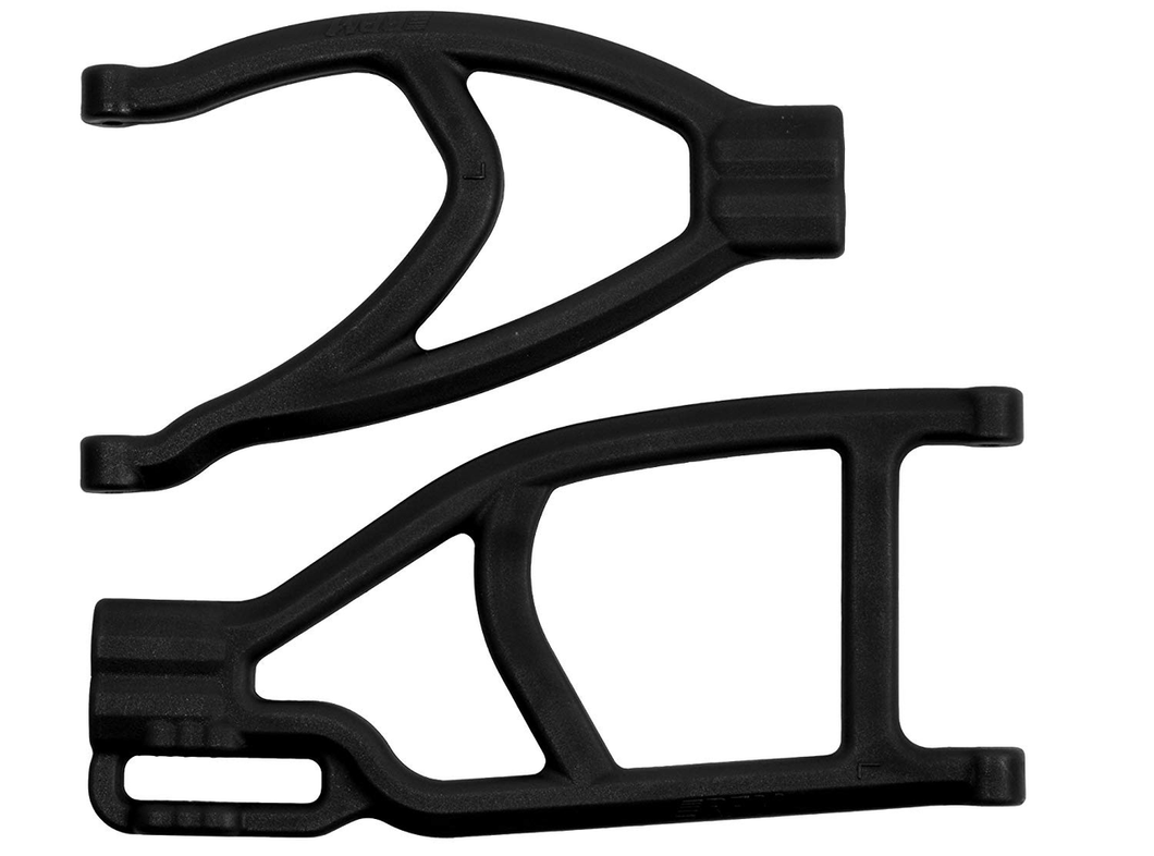 Extended Left Rear A-Arms, Black; Summit & Revo