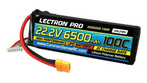 Lectron Pro™ 22.2V 6500mAh 100C Lipo Battery with XT90 Connector