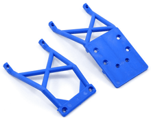 Load image into Gallery viewer, Traxxas 3623X Skid Plates, Front & Rear (Blue) TRA3623X