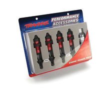 Load image into Gallery viewer, Traxxas 5460R Red-Anodized Aluminum GTR Shocks (fully assembled w/o springs) (set of 4)