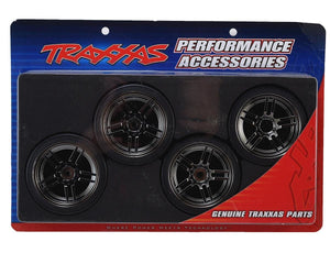8378 Black Chrome Wheels with Drift Tires (4) 4-Tec 2