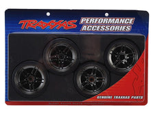 Load image into Gallery viewer, 8378 Black Chrome Wheels with Drift Tires (4) 4-Tec 2