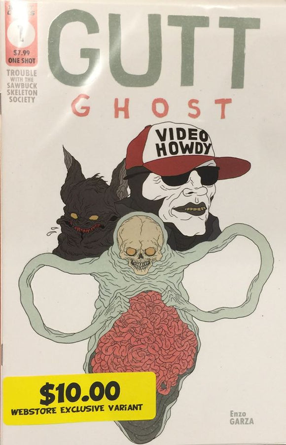 Gutt Ghost Trouble With The Sawbucket Skeleton Society Glow In The Dark Cover Variant