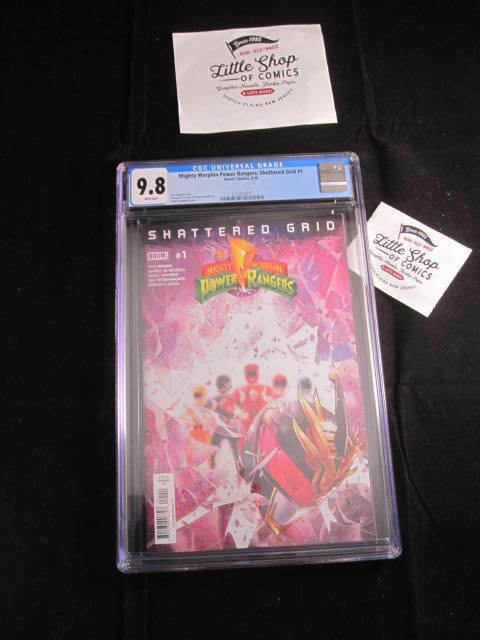MIGHTY MORPHIN POWER RANGERS SHATTERED GRID #1 CGC 9.8 DF Variant BOOM! Studios