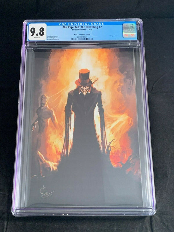 Rejected Unwilling CGC 9.8 Black Cape Comics Virgin Variant Limited to 100