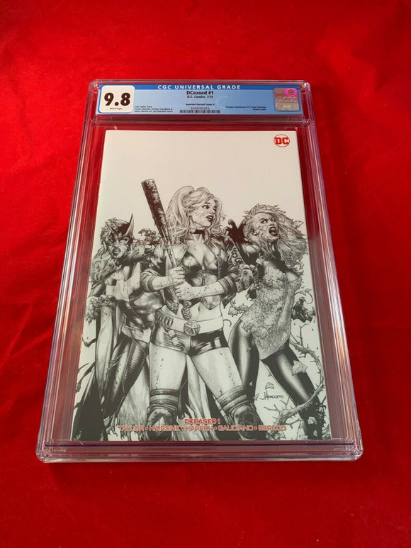 Dceased #1 Unknown Comics Anacleto Sketch Variant CGC 9.8 Harley Batgirl Poison