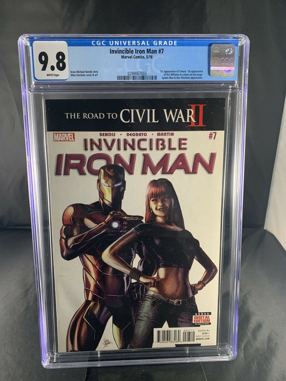 Invincible Iron Man #7 CGC 9.8 1st Riri Williams appearance 1st print