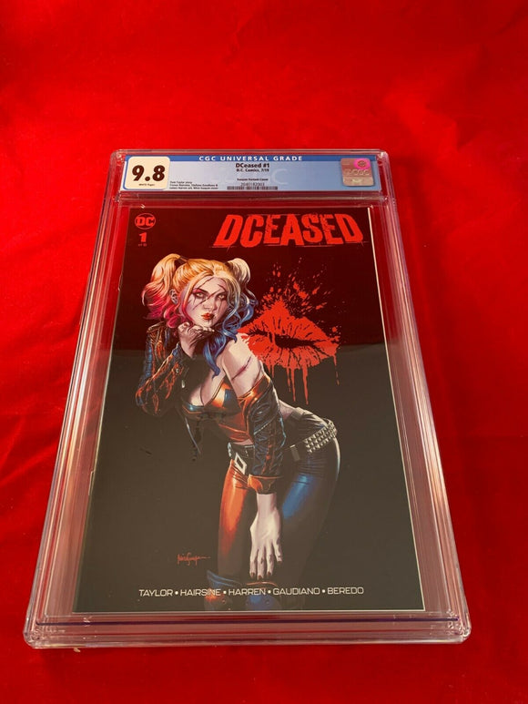 Dceased #1 Unknown Comics Mico Suayan Variant CGC 9.8 Harley Quinn