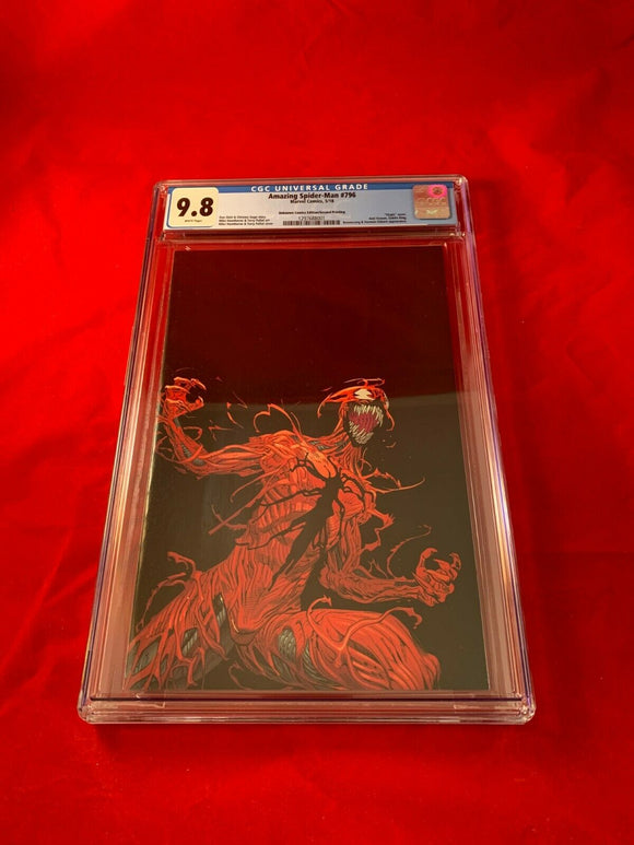 Amazing Spider-Man #796 2nd print CGC 9.8 Unknown Comics Virgin Variant