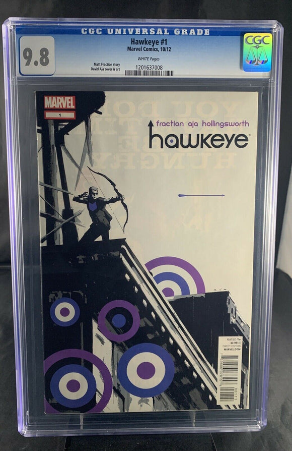 Hawkeye #1 CGC 9.8 1st Appearance Lucky Pizza Dog Tracksuit Mafia Disney+ Plus