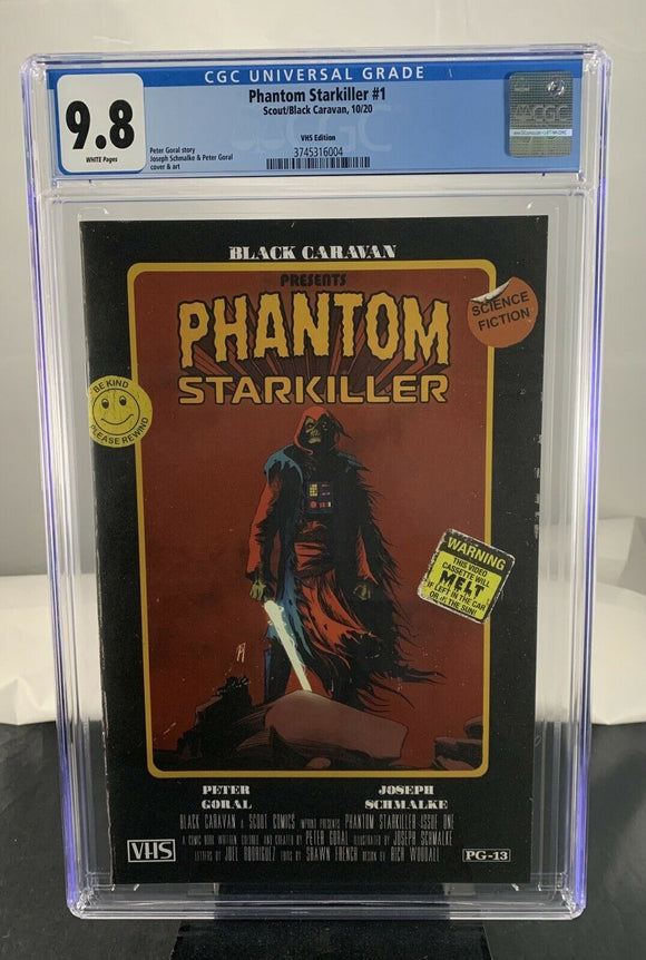 Phantom Starkiller #1 CGC 9.8 VHS Secret Variant Ltd 400 Scout Comics