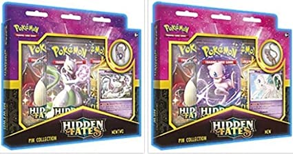 Pokemon Tcg Hidden Fates Pin Collection Mewtwo/Mew