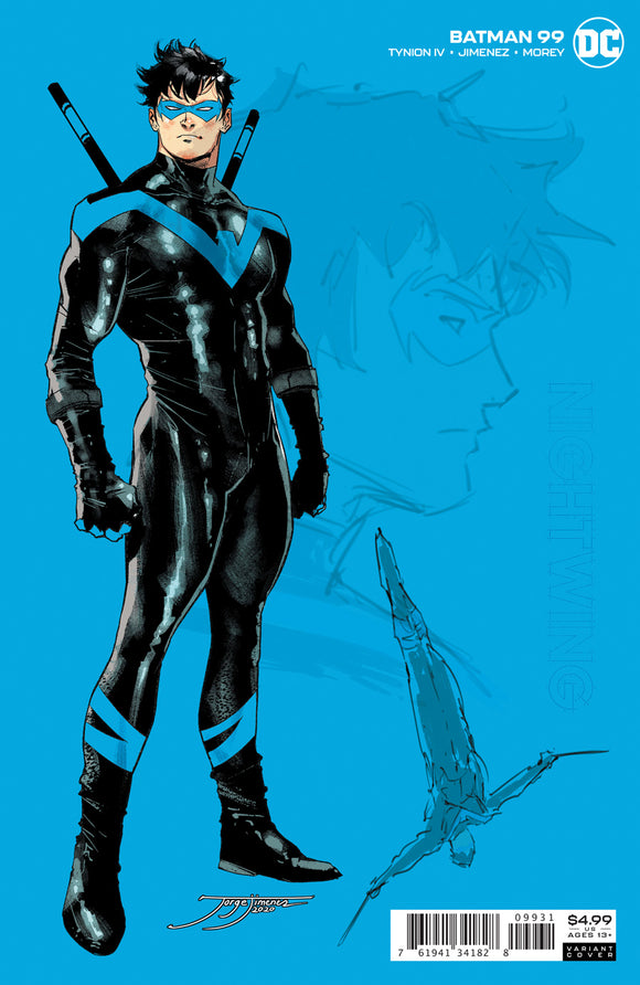 Batman #99 Jorge Jimenez Nightwing Card Stock Variant