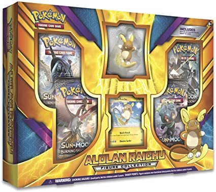 Pokemon Tcg Alolan Raichu Figure Collection Box