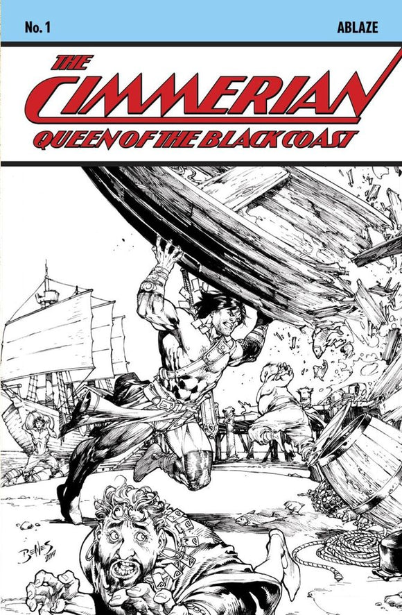 Cimmerian Queen Black Coast #1 Benes Sketch Variant