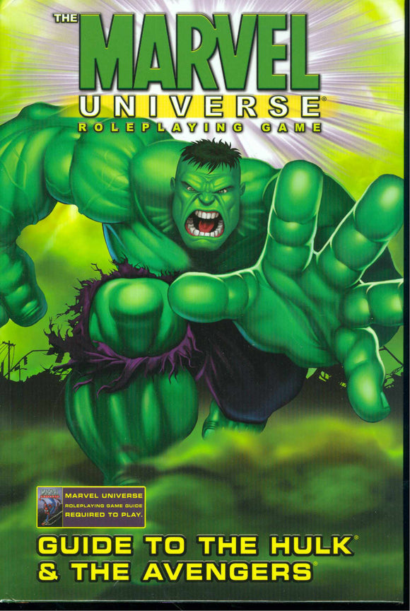 Marvel Universe Rpg Guide To Hulk & Avengers Hc (Star19968)