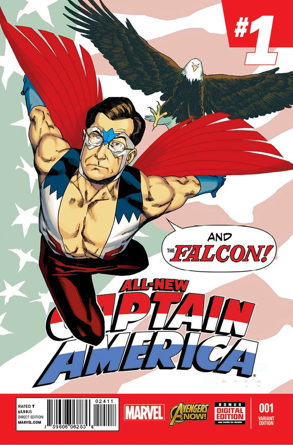 All New Captain America #1 Stephen Colbert Anka Variant - BACK ISSUES