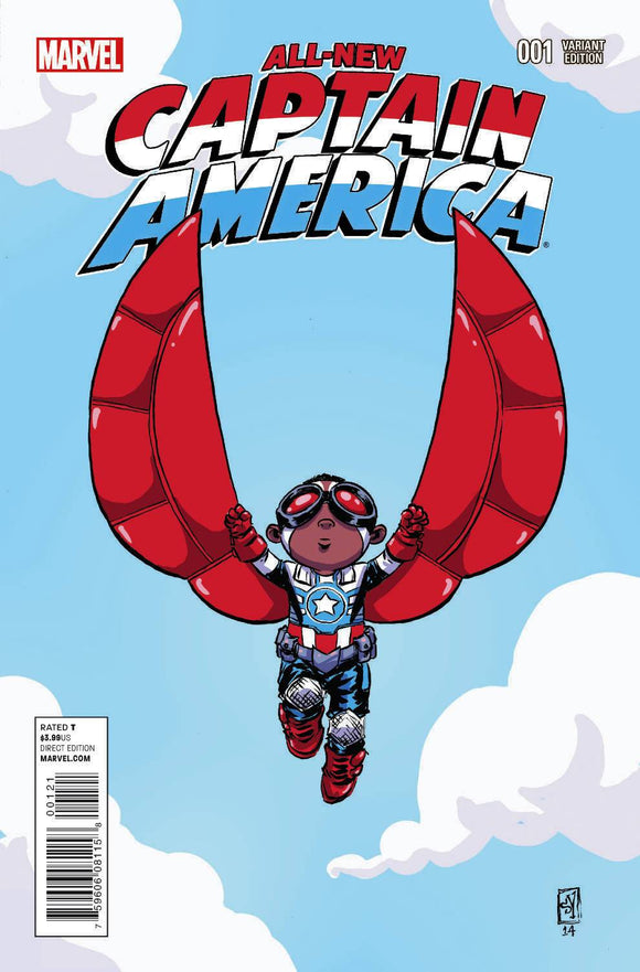 All New Captain America #1 Young Variant (1 Per Customer) - BACK ISSUES