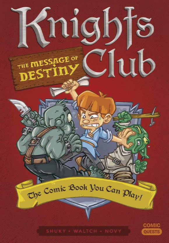 Comic Quests Knights Club Message of Destiny - Books
