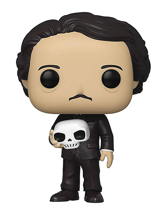 Pop Icons Edgar Allan Poe W/ Skull Vin Fig - Novelties