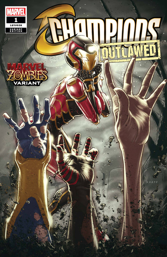 Champions #1 Andrews Marvel Zombies Var - Comics