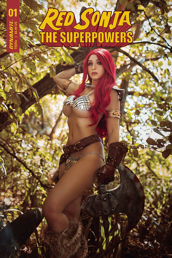 Red Sonja The Superpowers #1 Cvr E Lyons Cosplay Variant - Comics