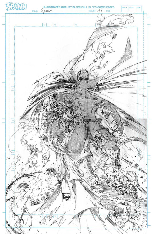 Spawn #314 Cvr D Capullo Raw Pencils Virgin Variant