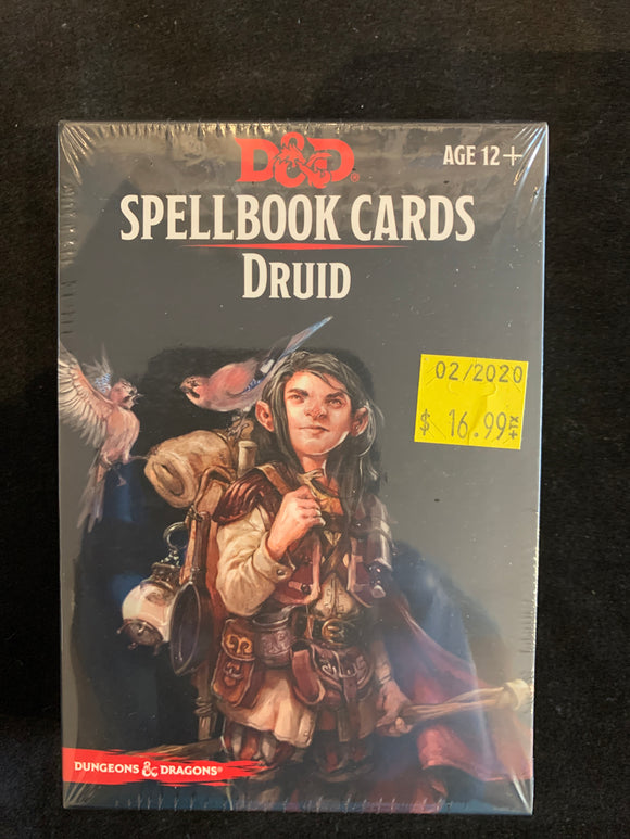 Dungeons & Dragons 5E Spellbook Cards Druid Deck