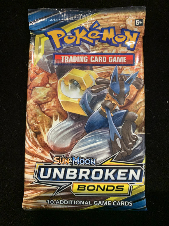 Pokemon Tcg Sun & Moon Unbroken Bonds Booster Pack