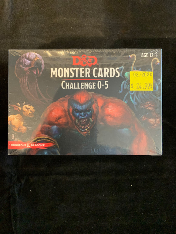 Dungeons & Dragons 5E Spellbook Cards Monsters 0-5