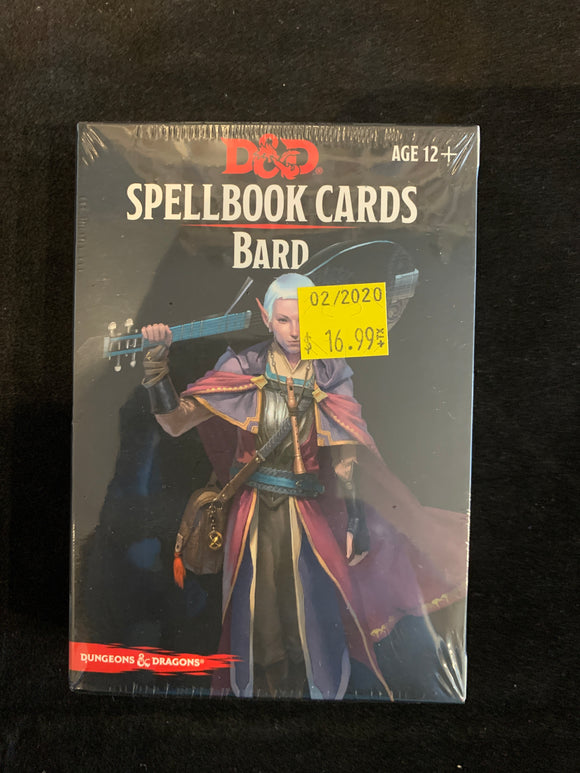 Dungeons & Dragons 5E Spellbook Cards Bard Deck