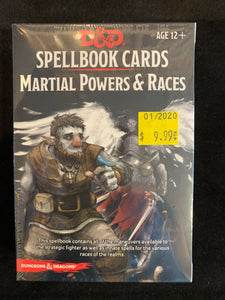 Dungeons & Dragons 5E Spellbook Cards Martial