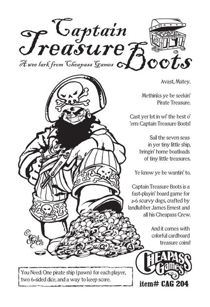 Captain Treasure Boots Game