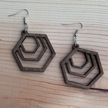Colony Earring - Walnut