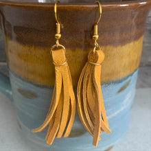 Tanned Leather Tassel Earring