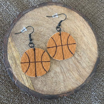 Courtside - Basketball Earrings
