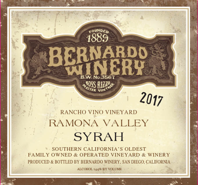 2017 Syrah Rancho Vino Vineyards