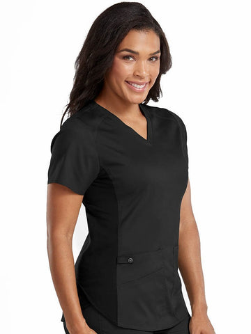 7459 V-NECK SHIRTTAIL TOP (Size: XS-3X) - Bella Grace Health Scrubs