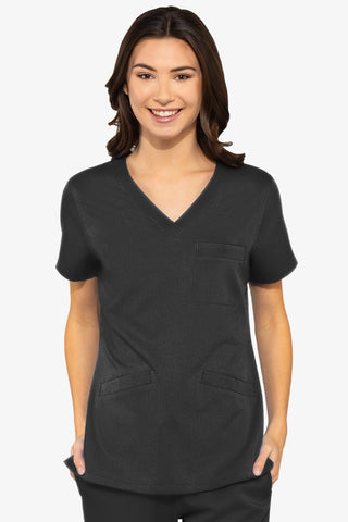 7463 V-NECK 3 POCKET TOP - Bella Grace Health Scrubs
