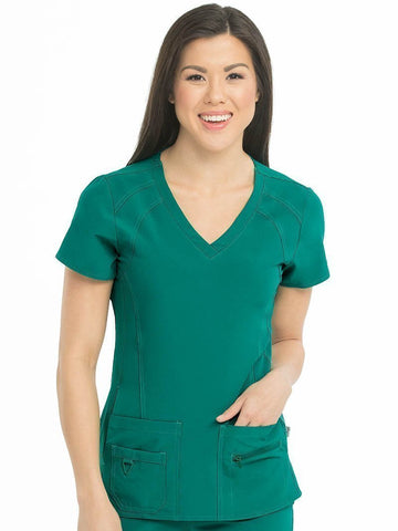 8416 V-NECKLINE RACERBACK TOP (SIZE: XS-XL) - Bella Grace Health Scrubs