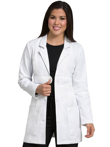 8617 EMPIRE BELTED MID LENGTH LAB COAT - Bella Grace Health Scrubs