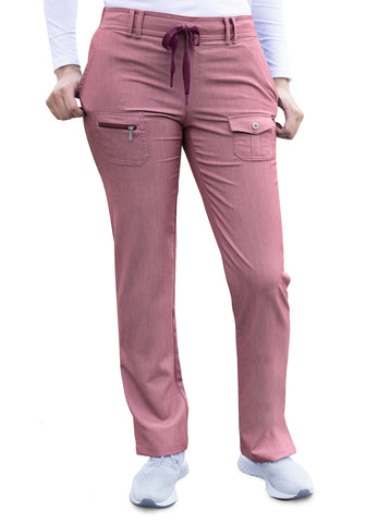 P4100 Slim Fit 6 Pocket Pant Pro Heather - Bella Grace Health Scrubs