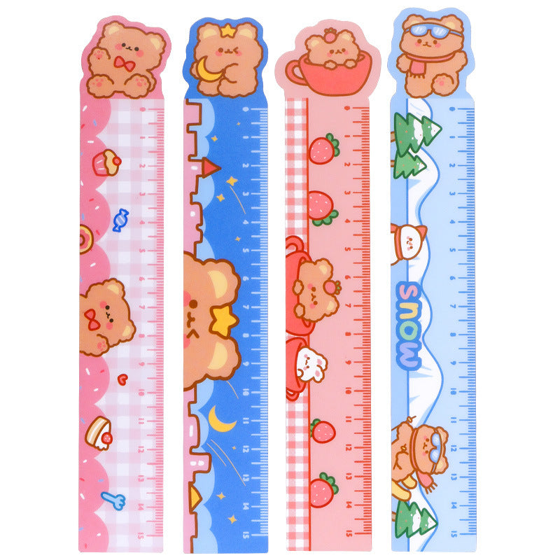 4Pcs/Set Cartoon Magnetic 15CM Ruler