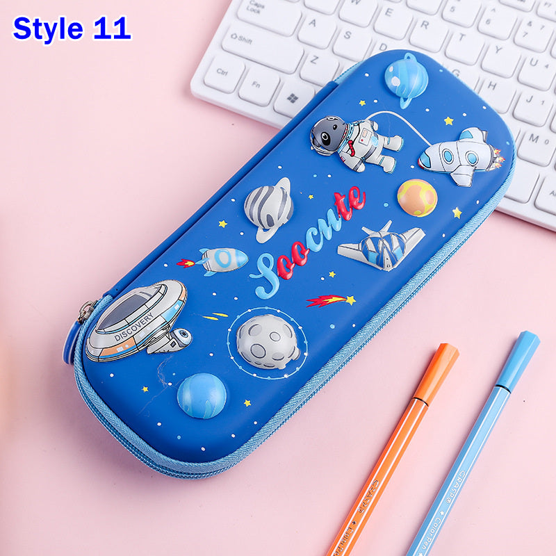 3D Dinosaur Unicorn Large Capacity Waterproof Pencil Case Pencil Bag