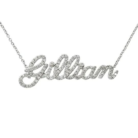 Miya custom made Custom Diamond Name Necklace