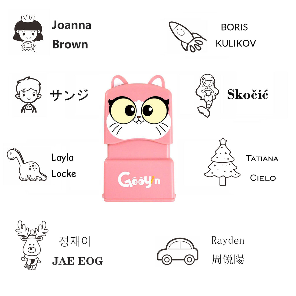 Miya Customized Cartoons signature Small stamp(Ink can be used more than 1000 times)