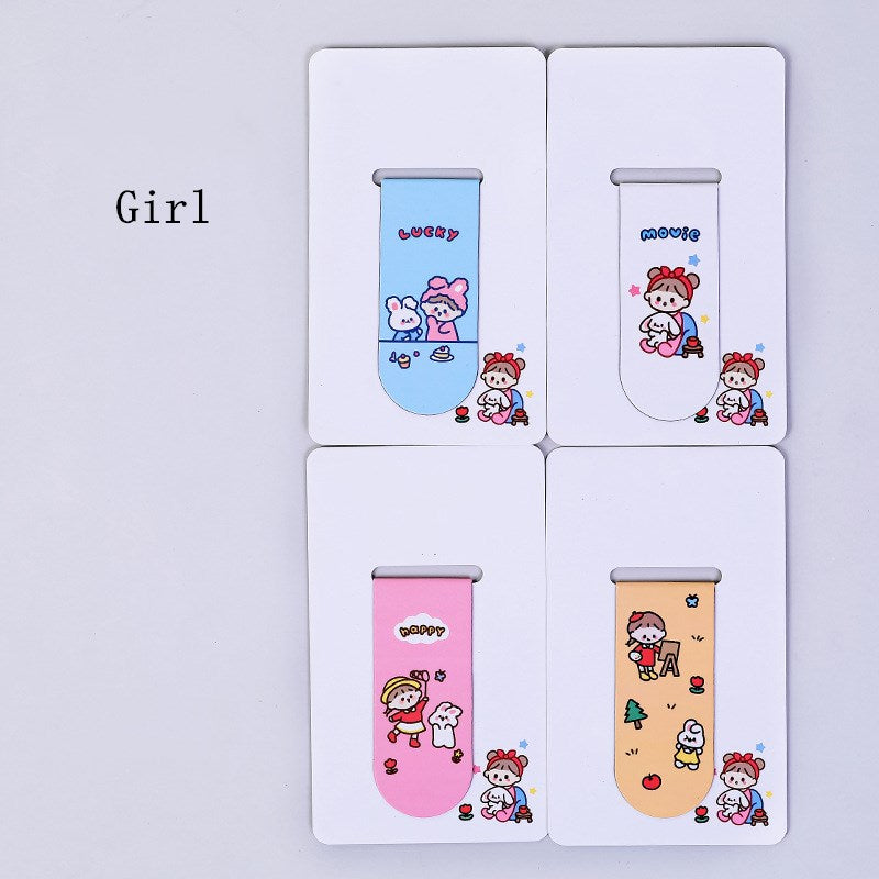 4 pcs/lot Cartoon  Magnet Bookmark