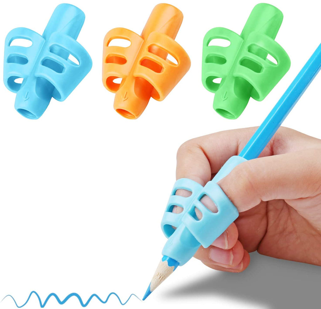 3 Pcs/1 Set Pencil Grips Children Pen Writing Aid Grip Posture Correction Tool For Kids