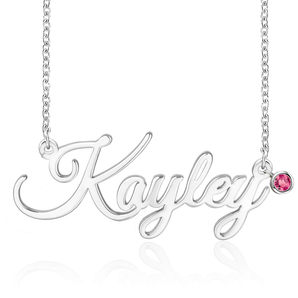 Miya custom made  Personalized Name Necklace With Birthstone
